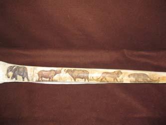 Giraffe Leg Bone Carved
