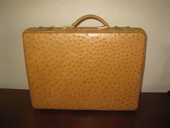 Ostrich Skin Briefcase