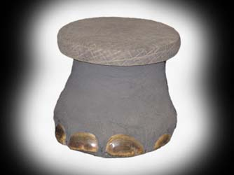 ele foot stool, leather top (2)