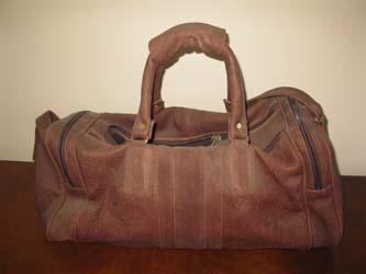 Buffalo Leather Duffle Bag
