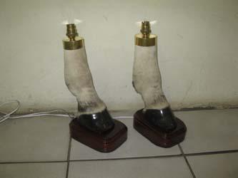 Zebra Feet Lamp Stand