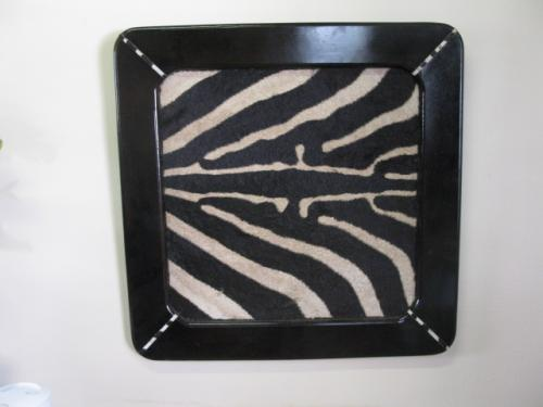 Picture Frames with animal Skin Insert (2)